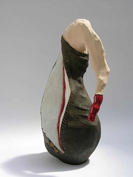 Encorps / mouvement n°6 – céramique, fil métal – 66x40x30 cm – 2008