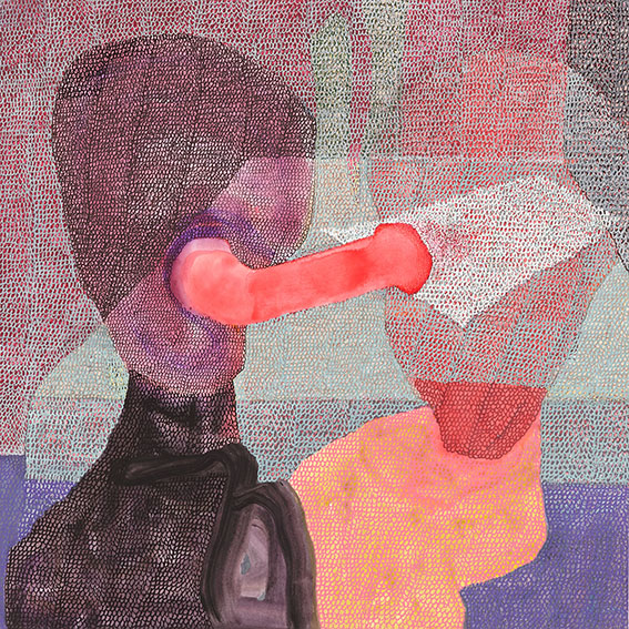 Il se passe quelque chose n°8 – acrylique – 40×40 cm – 2016