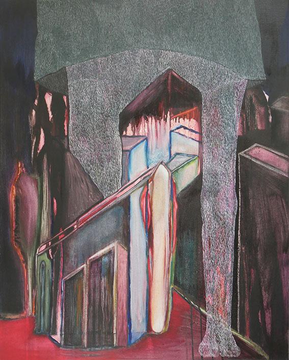 Perspective n°8 – acrylique – 65×80 cm – 2018