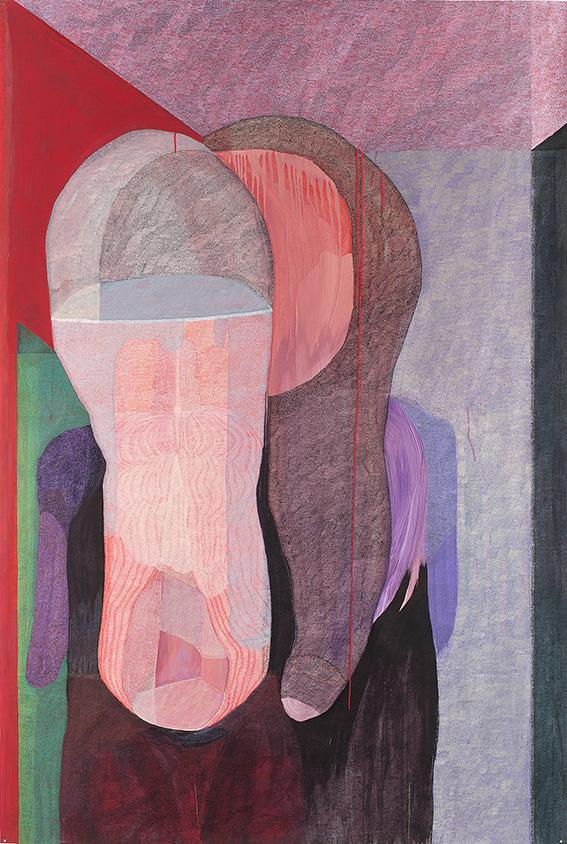 Utérin n°4 – acrylique – 160×220 cm – 2015 – Photo © Atelier Find Art