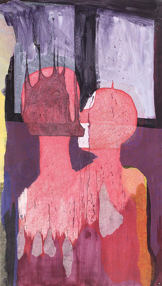Utérin n°3 – acrylique – 140×220 cm – 2014 – Photo © Atelier Find Art