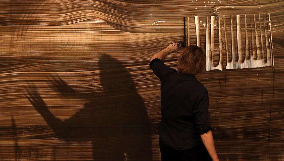 Recto/verso – performance – Céramique 11, Paris – 2018 – Photo © Jean-Pierre Perrolini