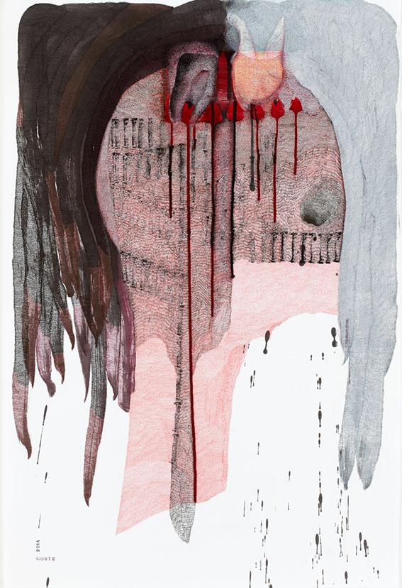 Red desire n°22 – encre – 65×97 cm – 2014 – Photo © Atelier Find Art