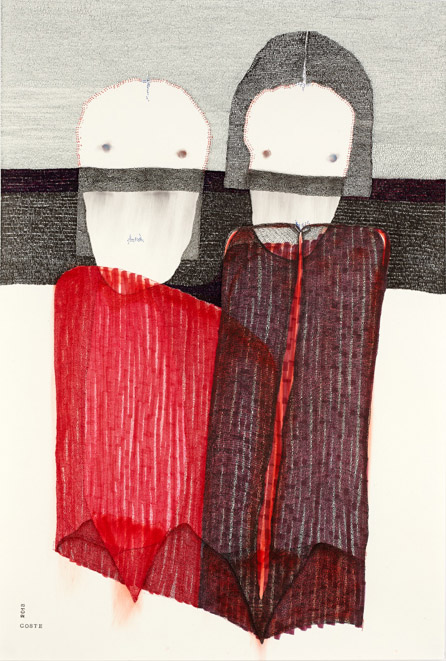 Red desire n°19 – encre – 64×95 cm – 2013 – Photo © Atelier Find Art